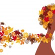 Autumn woman, vector — Vector de stock