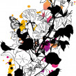 Royalty-Free Stock Vektorfiler: Abstract floral background, vector