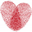 Fingerprint heart, vector - Stockvectorbeeld