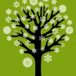 Snow tree — Vector de stock