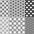 Japanese pattern, vector — ストックベクタ