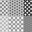 Japanese pattern, vector - Stockvectorbeeld