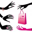 Fashion hands, vector — Stock Vector