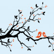Love tree - Imagen vectorial