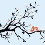 δέντρο αγάπη — Διανυσματικό Αρχείο