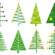 Xmas trees, vector — Stock Vector
