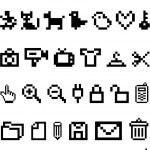 iconos de pixel, vector — Vector de stock
