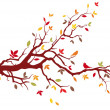 Autumn tree, vector — Stock Vector #1403266