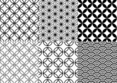 Japanese pattern, vector — Vettoriale Stock