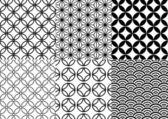 Japanska mönster, vektor — Stockvektor