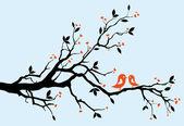 árbol de amor — Vector de stock
