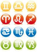 ícones do zodíaco — Vetorial Stock