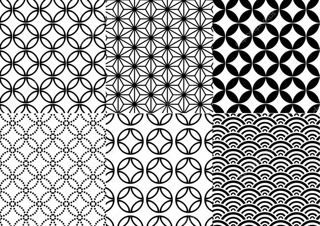 Seamless japanese pattern, vector  Stock Vector #1402676