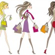 Stock Vector: Fashion women, vector