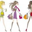 Fashion women, vector — Stock Vector