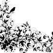 Abstract floral design — Image vectorielle