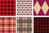 Fashion fabrics, vector — Stock Vector