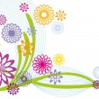 Stock vektor: Abstract floral design