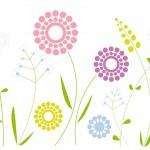 シンプルな花のデザイン — ストックベクタ