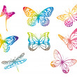 Royalty-Free Stock Vector Image: Colorful butterflies