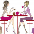 Stock Vector: Women drinking
