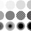 Dot patterns, vector - Stock Vector