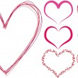 Vector de stock : Scribble hearts