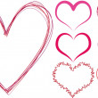 Royalty-Free Stock Vectorielle: Scribble hearts