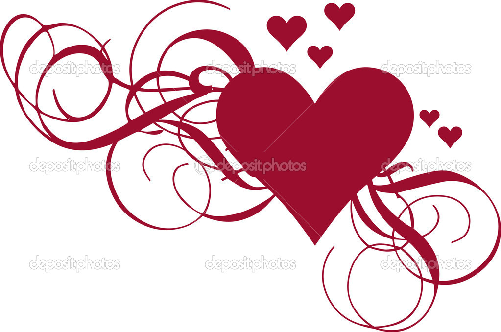 heart with swirls, vector — Stock Vector #1527174