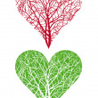 Heart tree — Vector de stock #1718947