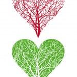 árvore do coração — Vetorial Stock