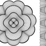 disegno floreale astratto — Vettoriale Stock