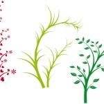 Doğa bahar, vektör — Stok Vektör