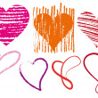 Royalty-Free Stock 矢量图片: Heart scribbles, vector