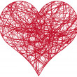Royalty-Free Stock 矢量图片: Chaos heart, vector