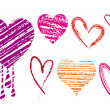 Scribble hearts, vector — Stockvector  #1852523