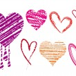 Royalty-Free Stock Imagen vectorial: Scribble hearts, vector