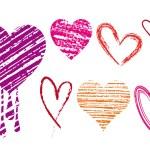 kalp karalamak, vektör — Stok Vektör