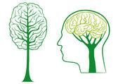 Think green, vector — Stock Vector