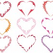 Decorative heart frames, vector — Stock Vector