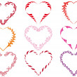 Decorative heart frames, vector — Stock Vector #1978144