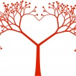 Tree heart, vector — Vector de stock