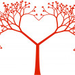 Vector de stock : Tree heart, vector