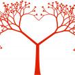 Tree heart, vector — Stock Vector
