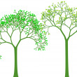 Spring trees, vector — Vector de stock