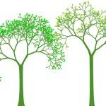 gli alberi di primavera, vettoriale — Vettoriale Stock