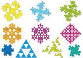 Geometric pattern, vector — Stock Vector