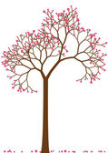 Cherry tree, vector — Stock Vector