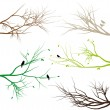 Tree branches, vector — Vector de stock