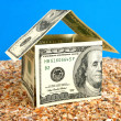 House made from 100 dollars — Stock Photo #1530290